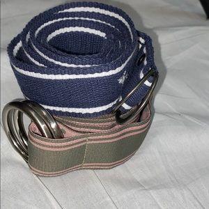 Fabric belt bundle. With double loop buckle